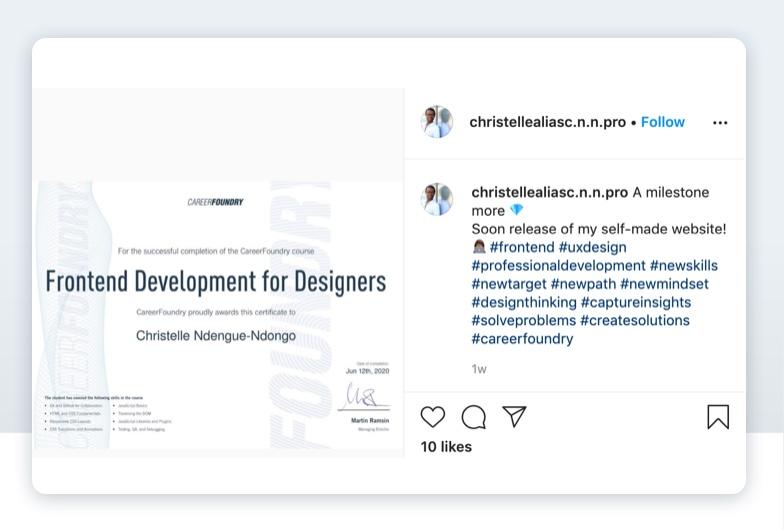 Graduate Christelle