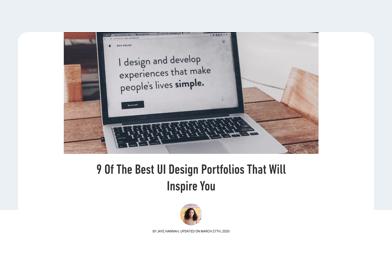 The best UI portfolios article