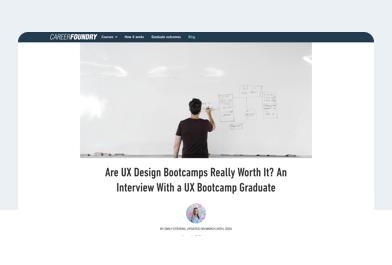 UX design graduate