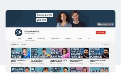 CareerFoundry YouTube